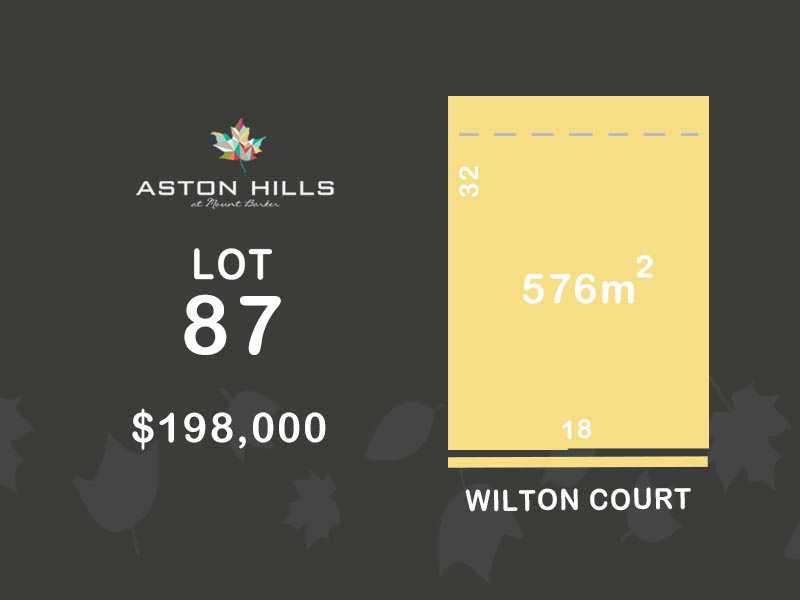 Lot 87, Wilton Court (Aston Hills), Mount Barker, SA 5251