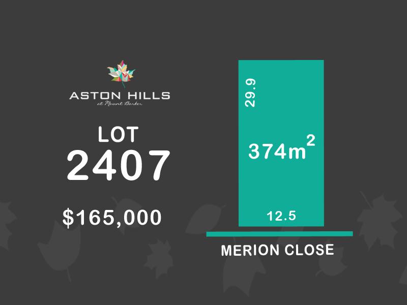 Lot 2407, Merion Close (Aston Hills), Mount Barker, SA 5251