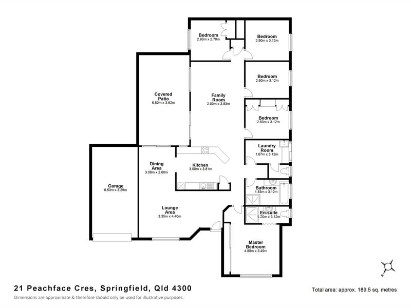 21 Peachface Crescent, Springfield, Qld 4300 - floorplan