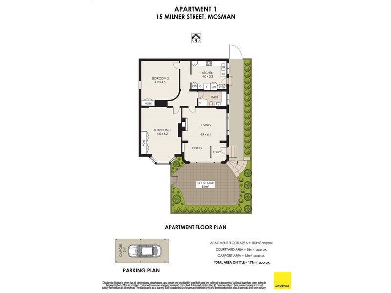 1/15 Milner Street, Mosman, NSW 2088 - floorplan