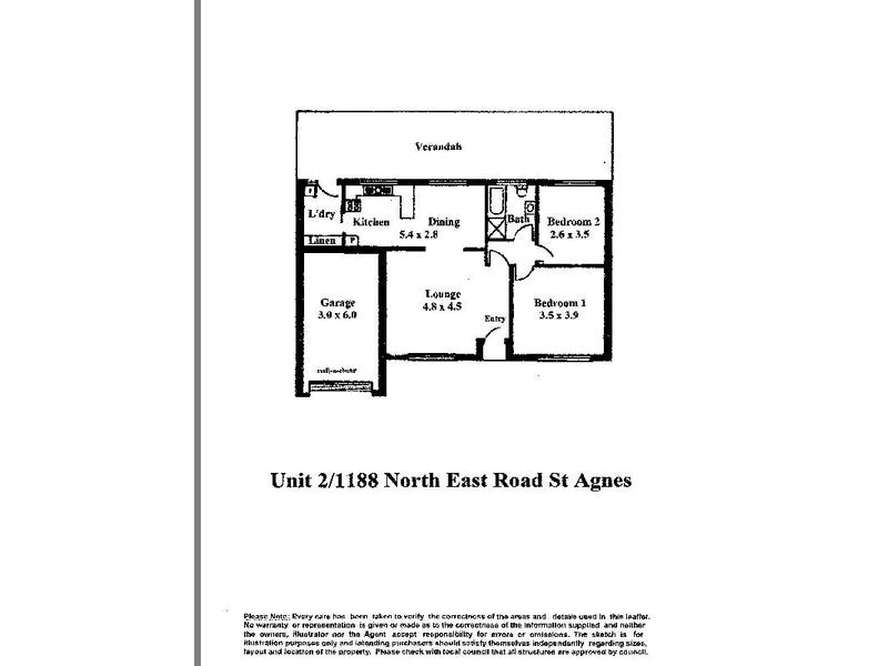 2/1188 North East Road, St Agnes, SA 5097 - floorplan