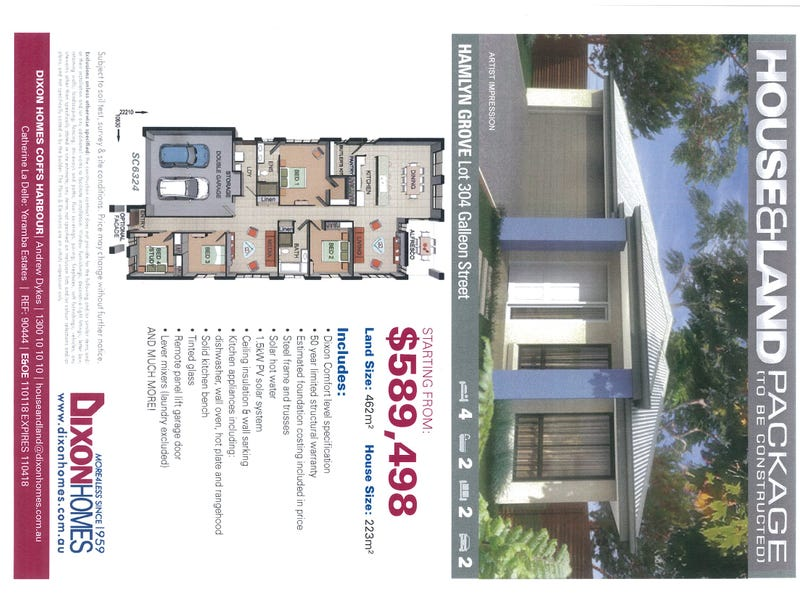 Lot 304, Galleon Street, Hamlyn Terrace, NSW 2259