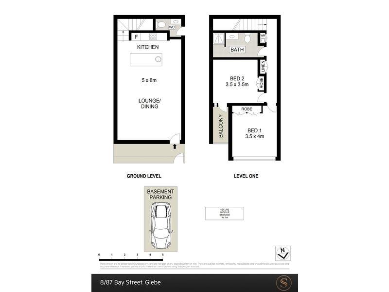 8.7/87 Bay Street, Glebe, NSW 2037 - floorplan