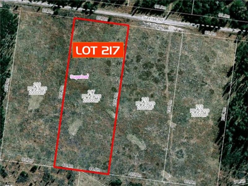 Lot 217 Sunrise Road, Sugarloaf via, Stanthorpe, Qld 4380