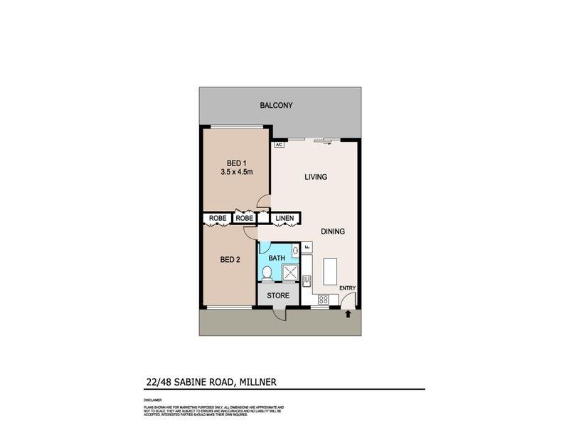 22/48 Sabine Road, Millner, NT 0810 - floorplan