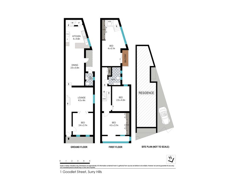 1 & 3  Goodlet Street, Surry Hills, NSW 2010 - floorplan