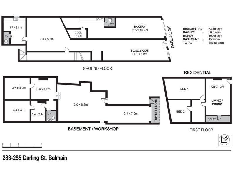 283-285 Darling Street, Balmain, NSW 2041 - floorplan