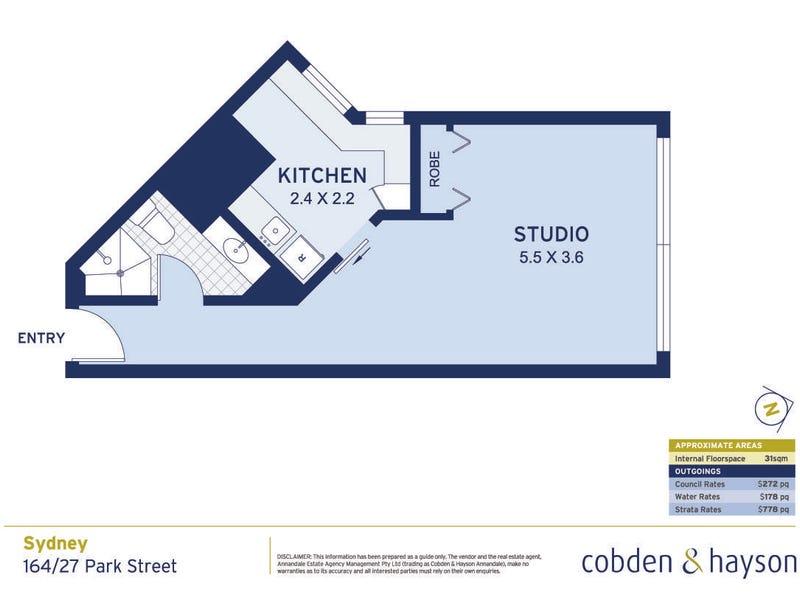164/27 Park Street, Sydney, NSW 2000 - floorplan