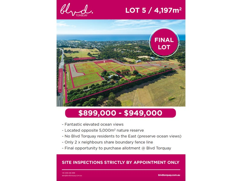 Lot 5, 305 Great Ocean Road, Torquay, Vic 3228