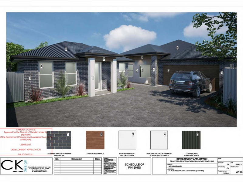 Lot 464, 21 Austen Circuit, Oran Park, NSW 2570