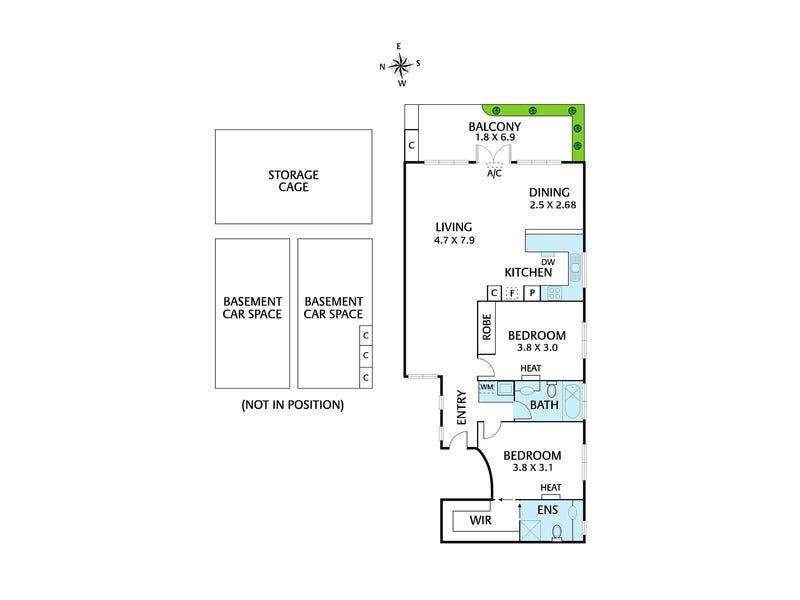17/87-89 Denmark Street, Kew, Vic 3101 - floorplan