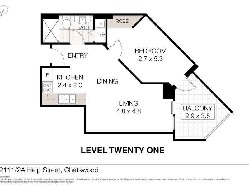 2111/2A Help Street, Chatswood, NSW 2067 - floorplan