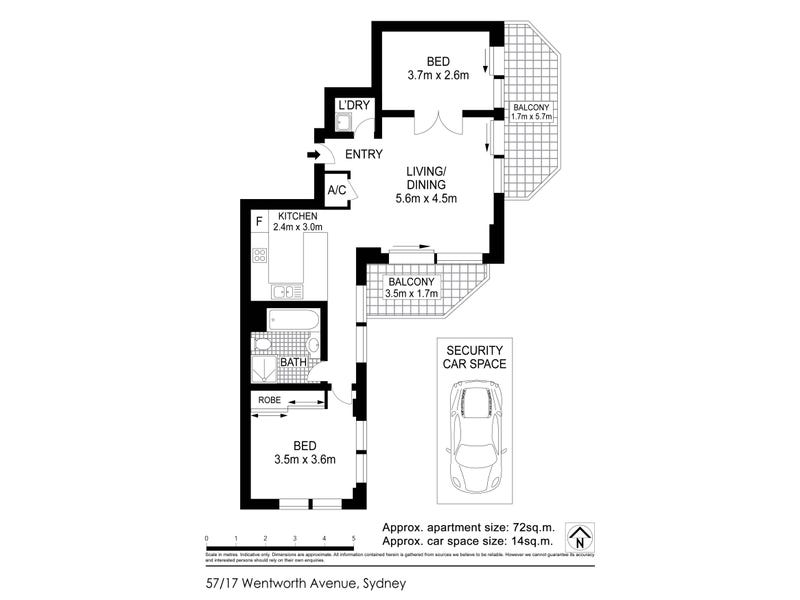 57/17-25 Wentworth Avenue, Sydney, NSW 2000 - floorplan