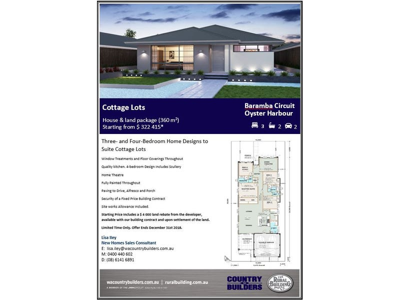 Lot 9 Barambah Circuit Oyster Harbour, Albany
