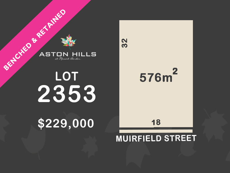 Lot 2353, Muirfield Street, Mount Barker, SA 5251