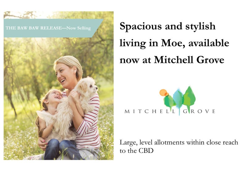 Lot 107 Mitchell Grove, Moe