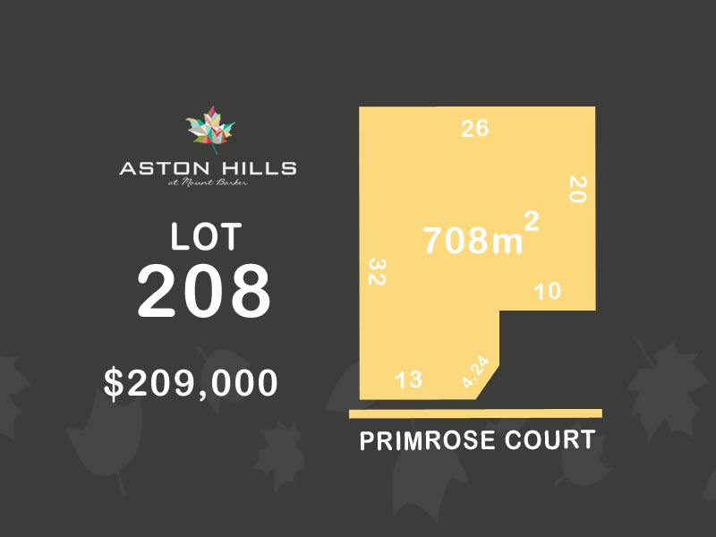 Lot 208, Primrose Court (Aston Hills), Mount Barker, SA 5251