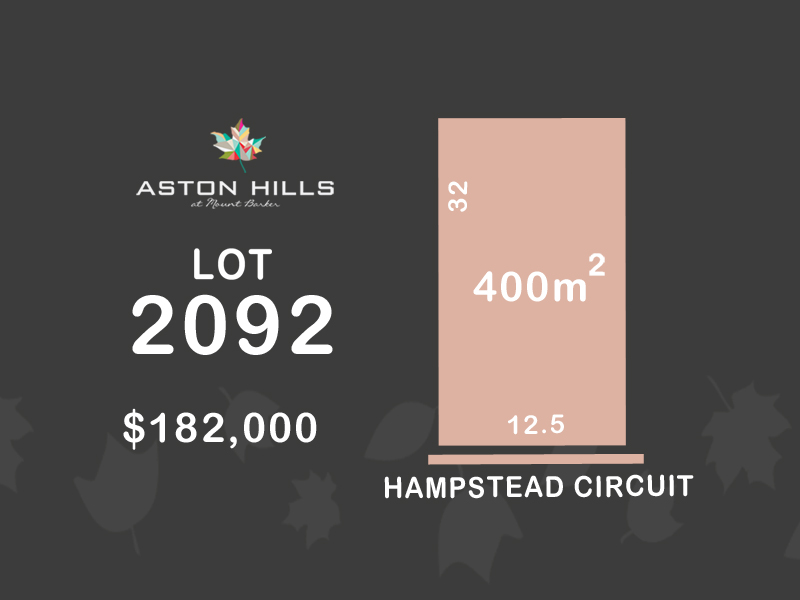 Lot 2092, Hampstead Circuit (Aston Hills), Mount Barker, SA 5251