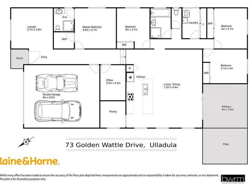73 Golden Wattle Drive, Ulladulla, NSW 2539 - floorplan