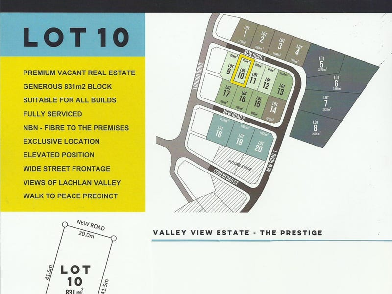 LOT 10 VALLEY VIEW ESTATE, Cowra, NSW 2794