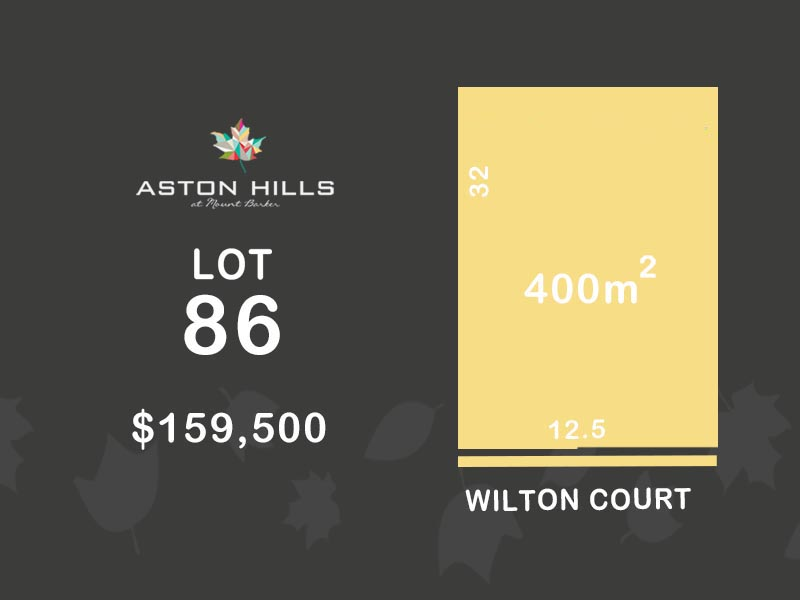 Lot 86, Wilton Court (Aston Hills), Mount Barker, SA 5251