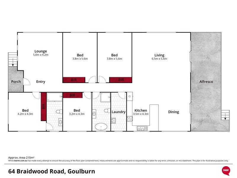 64 Braidwood Road, Goulburn, NSW 2580 - floorplan