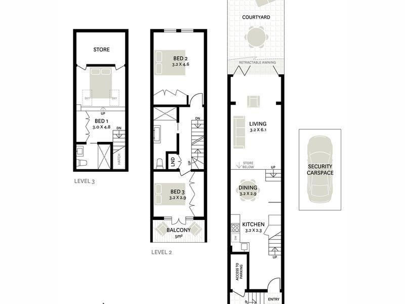 2 Broughton Street, Woolloomooloo, NSW 2011 - floorplan