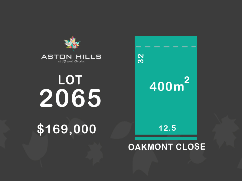 Lot 2065, Oakmont Close (Aston Hills), Mount Barker, SA 5251