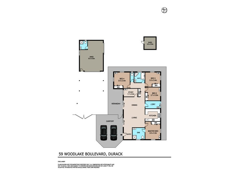 59 Woodlake Bvd, Durack, NT 0830 - floorplan