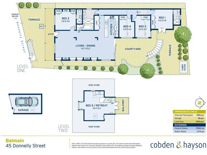 45 Donnelly Street, Balmain, NSW 2041 - floorplan