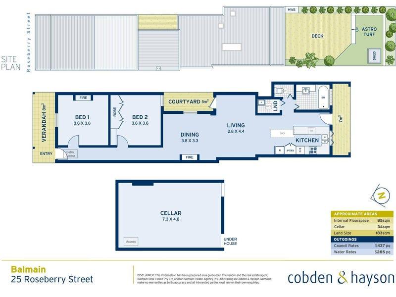 25 Roseberry Street, Balmain, NSW 2041 - floorplan