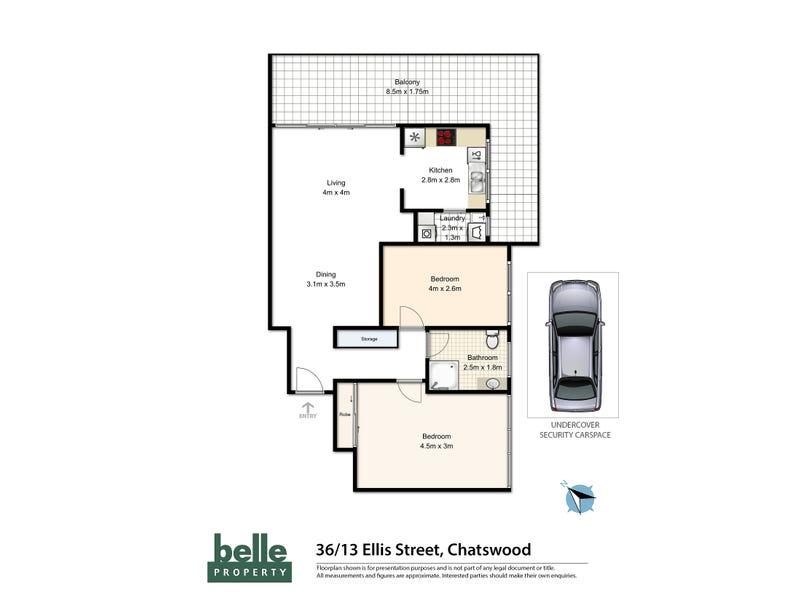 36/7-13 Ellis Street, Chatswood, NSW 2067 - floorplan