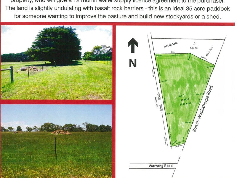 Lot 1, 903 Koroit - Woolsthorpe Road, Woolsthorpe, Vic 3276
