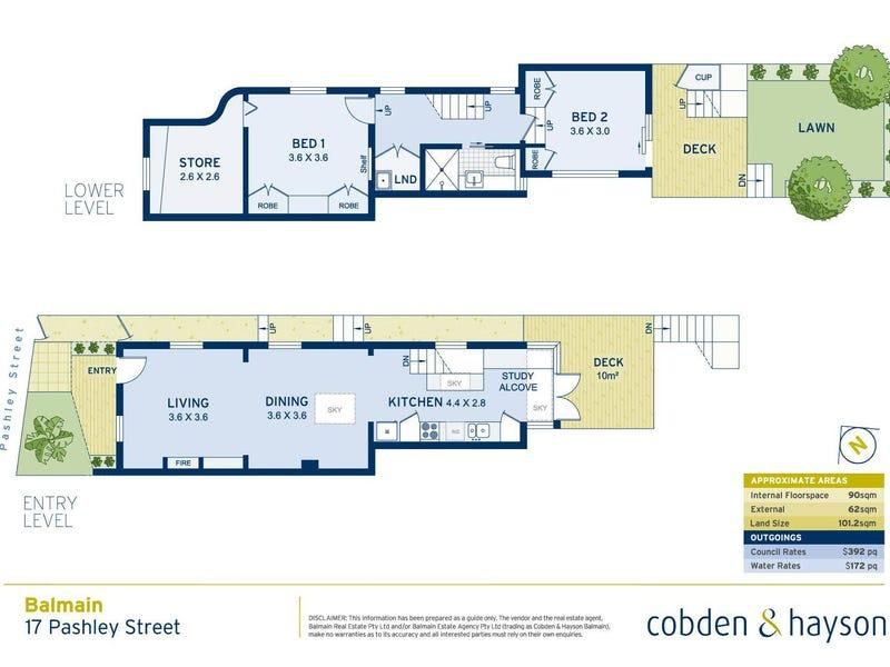 17 Pashley Street, Balmain, NSW 2041 - floorplan