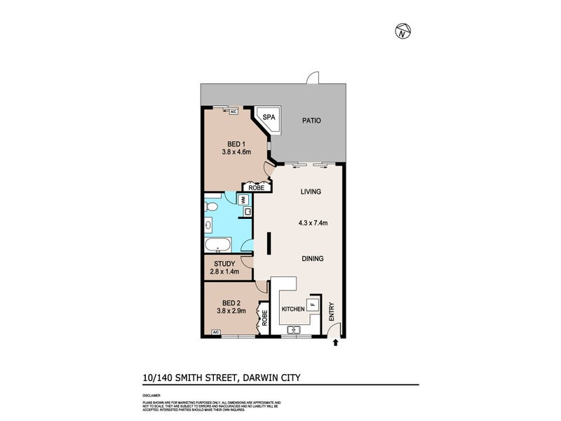 10/140 Smith Street, Darwin City, NT 0800 - floorplan