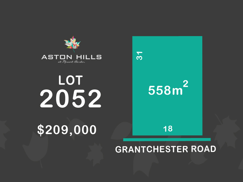 Lot 2052, Grantchester Avenue (Aston Hills), Mount Barker, SA 5251