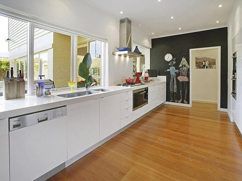 galley kitchen design nz modern galley kitchen design using floorboards kitchen 961