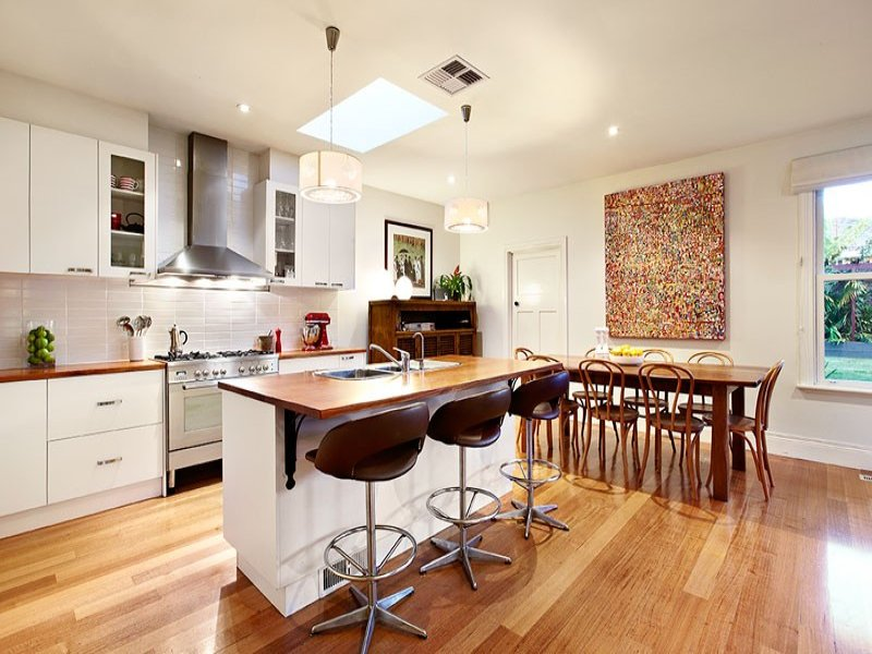 Modern White Kitchen Designs With Timber 5 1